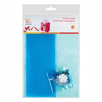 Набор для оформления подарков, синий