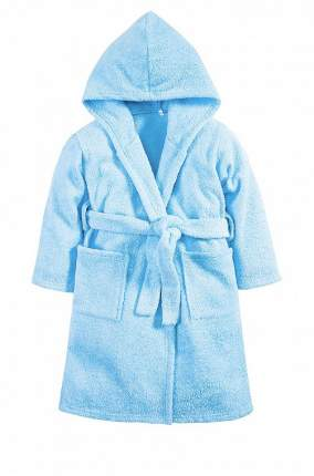 Халат Осьминожка с капюшоном махровый детский голубой 98 размер