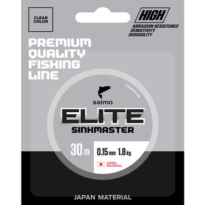 Леска монофильная Salmo Elite Sinkmaster 0,08 мм, 30 м, 0,63 кг