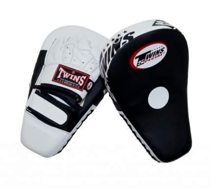 Лапы боксерские Twins PML21 черно-белые