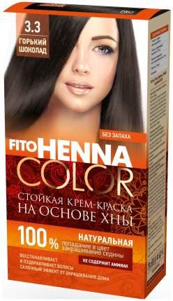 Краска для волос Фитокосметик FitoHenna Color 3.3 Горький шоколад 115 мл