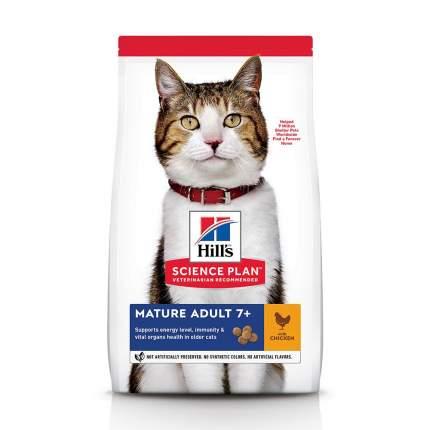 Сухой корм для кошек Hill's Science Plan Mature Adult 7+, для пожилых, курица, 0,3кг