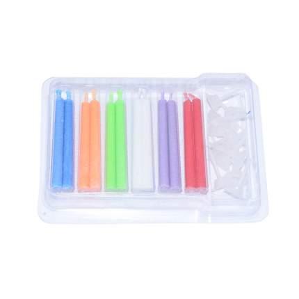 Набор свечей Fissman 0921 Белый, фиолетовый, оранжевый, зеленый, красный, голубой