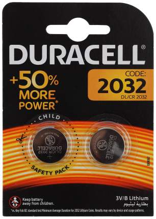 Батарейка Duracell CR2032-2BL 2 шт