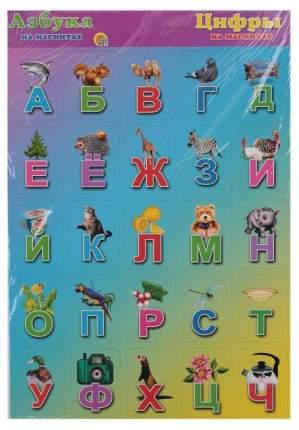 Семейная настольная игра Рыжий кот Азбука и цифры АМ-7258 фиолетовая мини