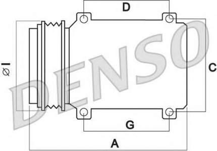 Компрессор кондиционера Denso DCP09003