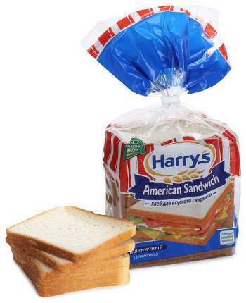 Хлеб Harry's american sandwich cандвичный пшеничный 470 г