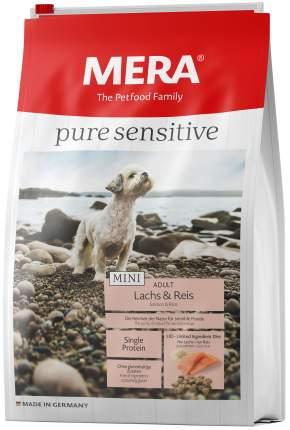 Сухой корм для собак MERA Pure Sensitive Mini Adult, для мелких пород, лосось и рис, 1кг