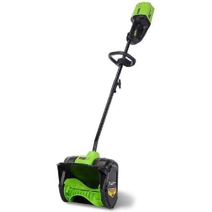Аккумуляторный снегоуборщик Greenworks GD80SS без АКБ и ЗУ