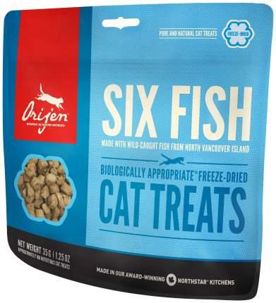Сублимированное лакомство Orijen Six Fish для кошек, 35 г