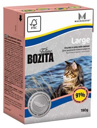 Консервы для кошек BOZITA Feline Large, для крупных пород, с лососем в желе, 190г