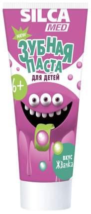 Зубная паста Silcamed гелевая со вкусом жвачки с 6 лет 65 мл /24