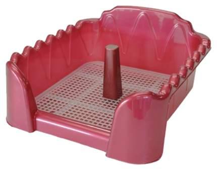 Лоток для собак Homepet 55х40 см красный