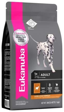 Сухой корм для собак Eukanuba Adult All Breeds, все породы, ягненок, рис, 1кг