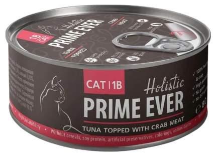 Консервы для кошек Prime Ever Delicacy тунец с крабом в желе 80 г