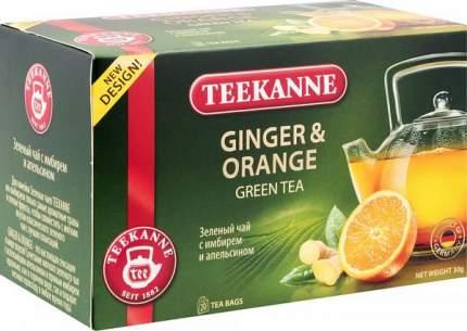 Чай зеленый Teekanne с имбирем и апельсином 20 пакетиков