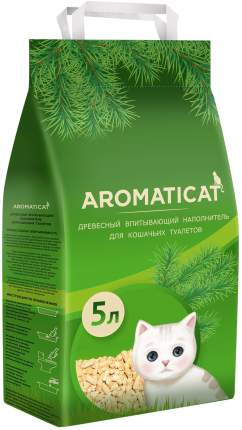 Впитывающий наполнитель Aromaticat древесный, 3 кг, 5 л