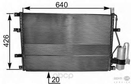 Радиатор кондиционера Hella 8FC351037-641