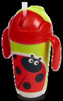 Поильник детский Eco Baby с трубочкой Божья коровка 350 мл