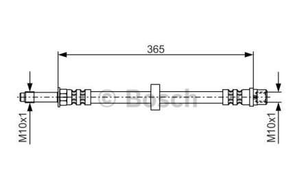 Шланг тормозной системы BOSCH 1 987 476 851