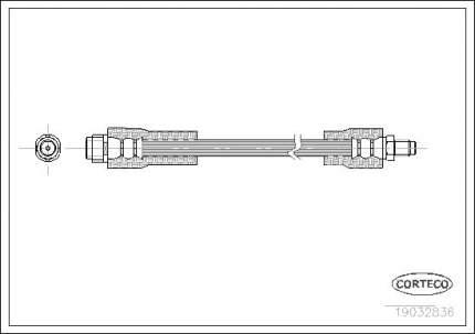 Шланг тормозной системы CORTECO 19032836