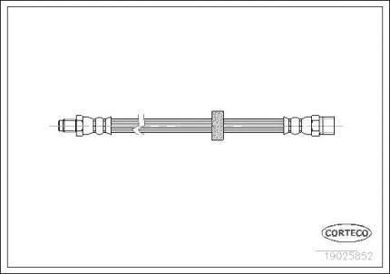 Шланг тормозной CORTECO 19025852