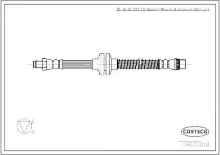 Шланг тормозной системы CORTECO 19035818