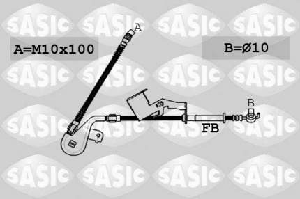 Шланг тормозной SASIC 6600064