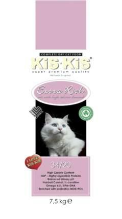 Сухой корм для кошек KiS-KiS Extra Rich, домашняя птица, 1,5кг