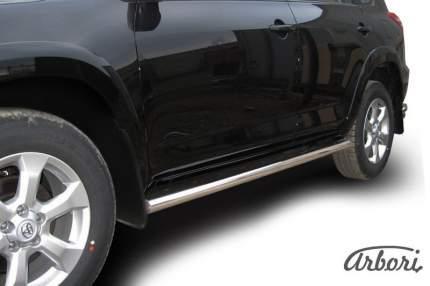 Защита порогов d57 труба Arbori нерж. сталь для Toyota RAV4 Long 2009-2014