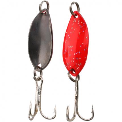 Блесна колеблющаяся Mikado Trout Campione Mini 1,4 г, 2,2 см, красная/черная