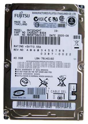 Внутренний жесткий диск Fujitsu 40GB (MHT2040AT)