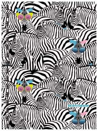 Скетчбук Канц-Эксмо «Модные зебры. Графика» А4, 80 листов ТС4804482