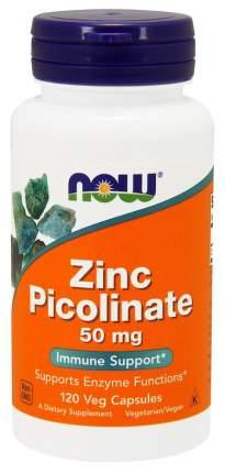 Цинк NOW Zinc Picolinate 120 капс. без вкуса