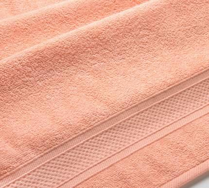 Полотенце махровое с бордюром (персиковое) 40х70