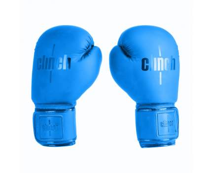 Боксерские перчатки Clinch Mist синие 10 унций