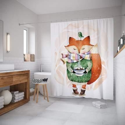 Шторы (шторка) для ванной JoyArty «Любитель тепла» 180x200 см