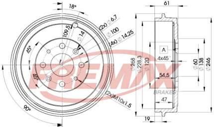 Тормозной барабан FREMAX BD-3043