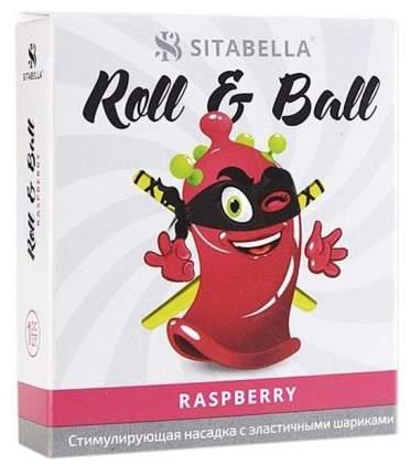 Презерватив-насадка Roll Ball Raspberry