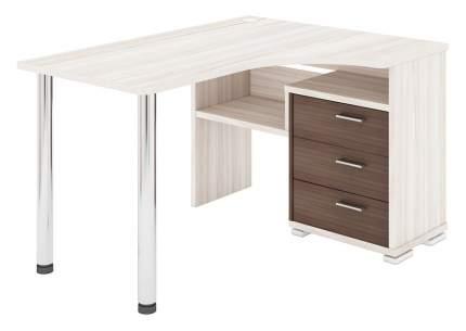 Письменный стол Мэрдэс MER_SR-132S_V-LEV, венге/хром