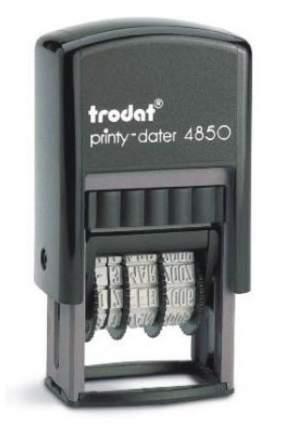 Датер Trodat Printy 4850 Рус со свободным полем под клише печати. Поле: 28х17 мм