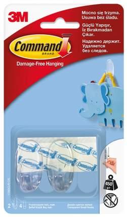 3M Дизайн-крючок прозрачный Command® малый 2 шт (17092CLR)