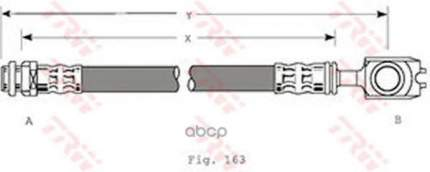 Шланг тормозной TRW для PHD349