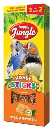 Лакомства для птиц Happy Jungle Мед и фрукты, 50 г