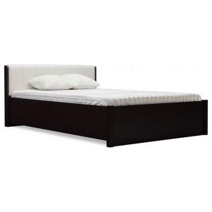 Кровать двуспальная Глазов мебель Берлин 32 160х200 см, коричневый