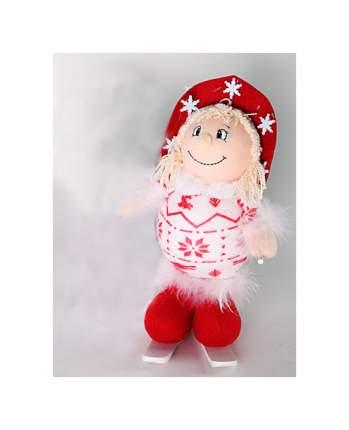 Мягкая игрушка Snowmen Новогодняя на лыжах 23 см Е92104