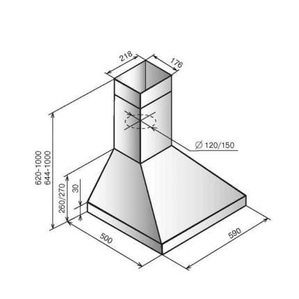 Вытяжка купольная Elikor Вента 60П-430-П3Л Anthracite/Rails Bronze