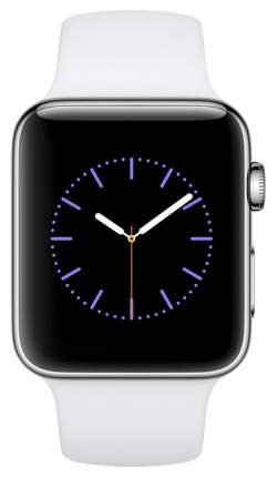 Смарт-часы Apple Watch Series 2 38mm Stainless Steel/White (MNP42RU/A)