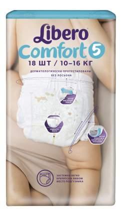 Подгузники Libero Comfort Size 5 (10-16кг), 18 шт.