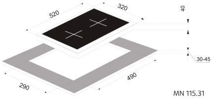 Встраиваемая варочная панель газовая Zigmund & Shtain MN 115.31 White